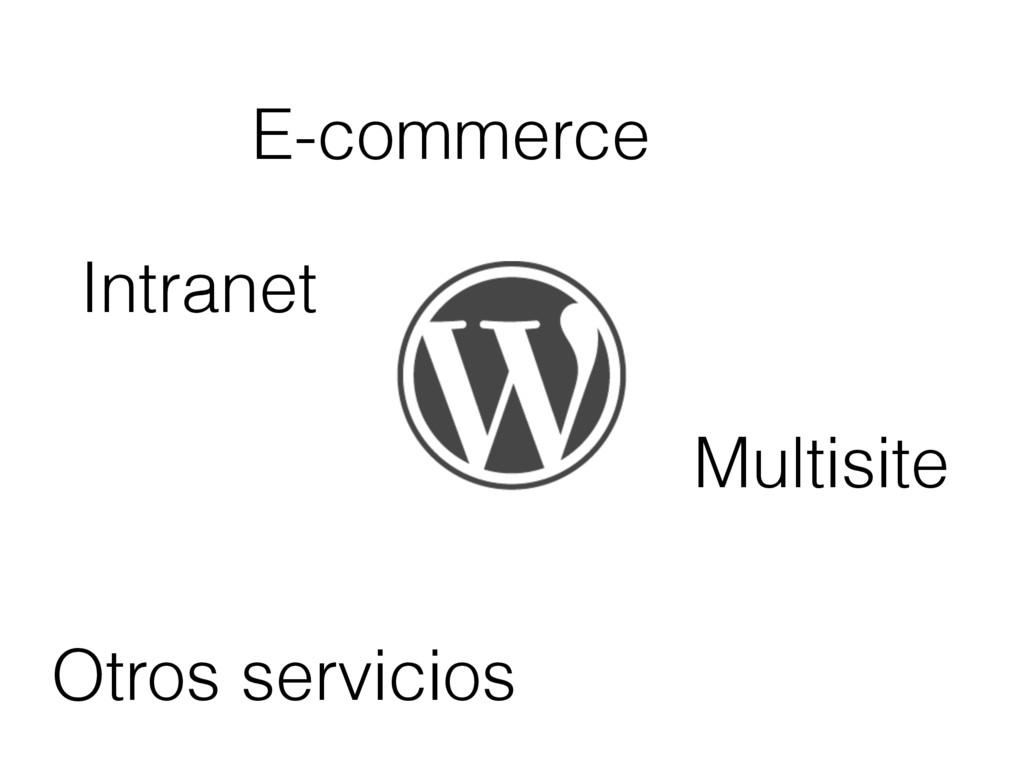 E-commerce Intranet Otros servicios Multisite