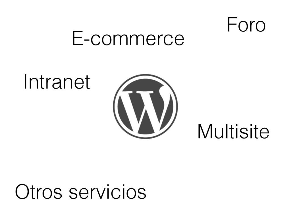 E-commerce Foro Intranet Otros servicios Multis...