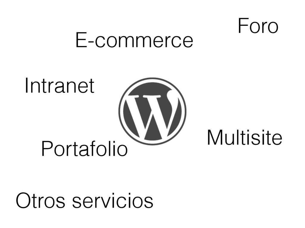 E-commerce Foro Portafolio Intranet Otros servi...
