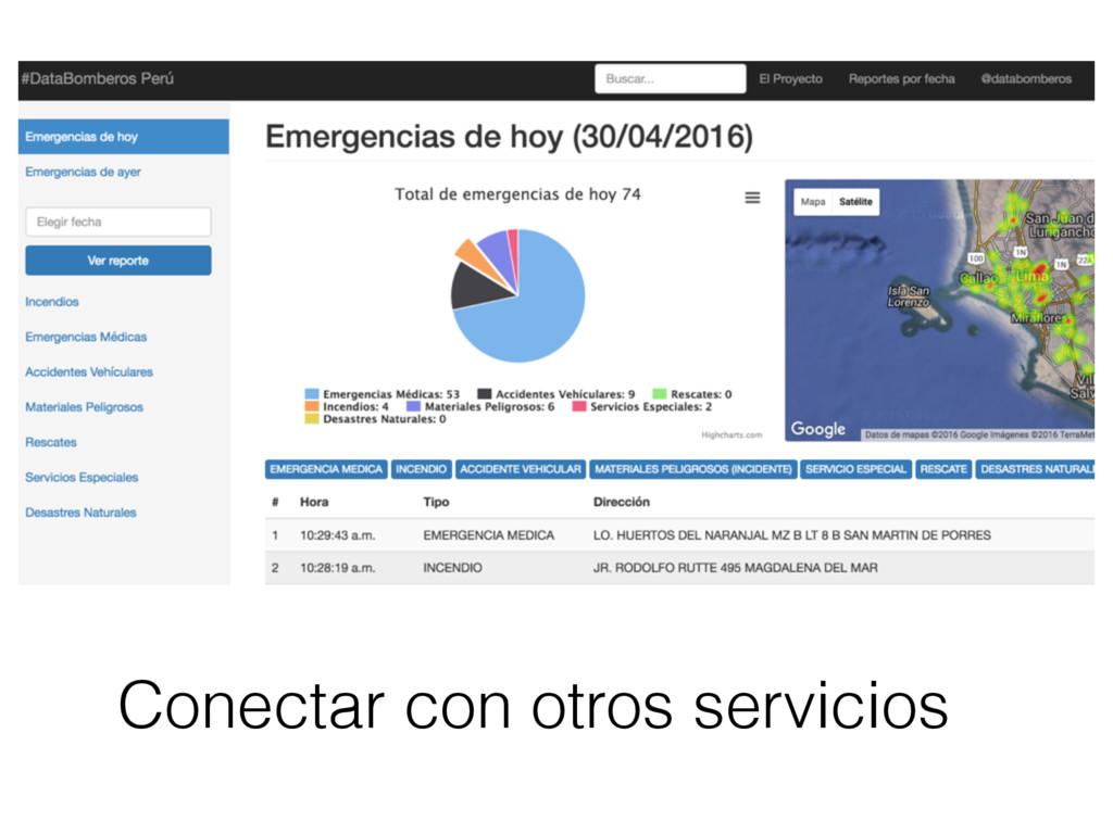 Conectar con otros servicios