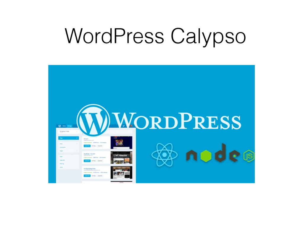 WordPress Calypso