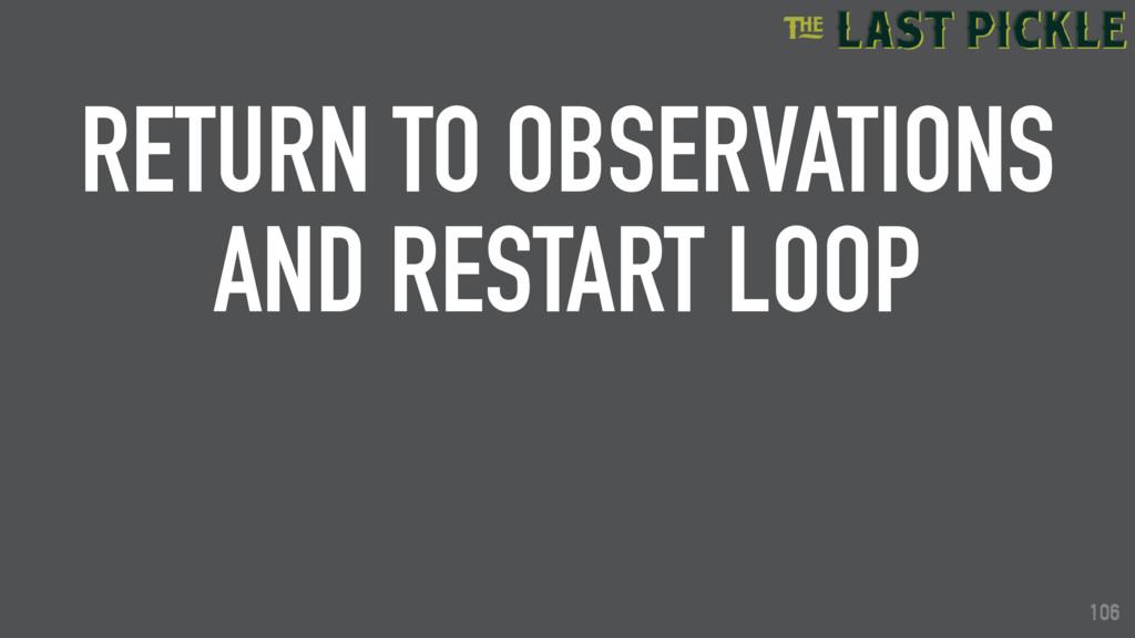 106 RETURN TO OBSERVATIONS AND RESTART LOOP 106