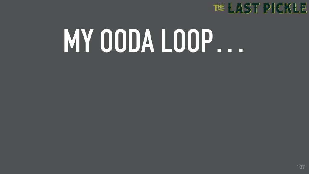 107 MY OODA LOOP… 107
