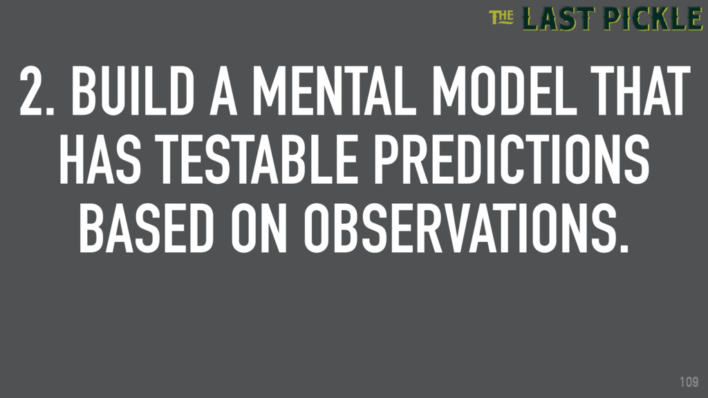 109 2. BUILD A MENTAL MODEL THAT HAS TESTABLE P...