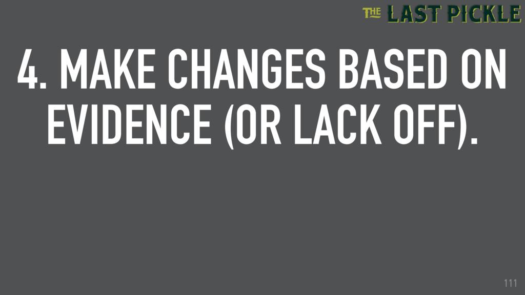 111 4. MAKE CHANGES BASED ON EVIDENCE (OR LACK ...