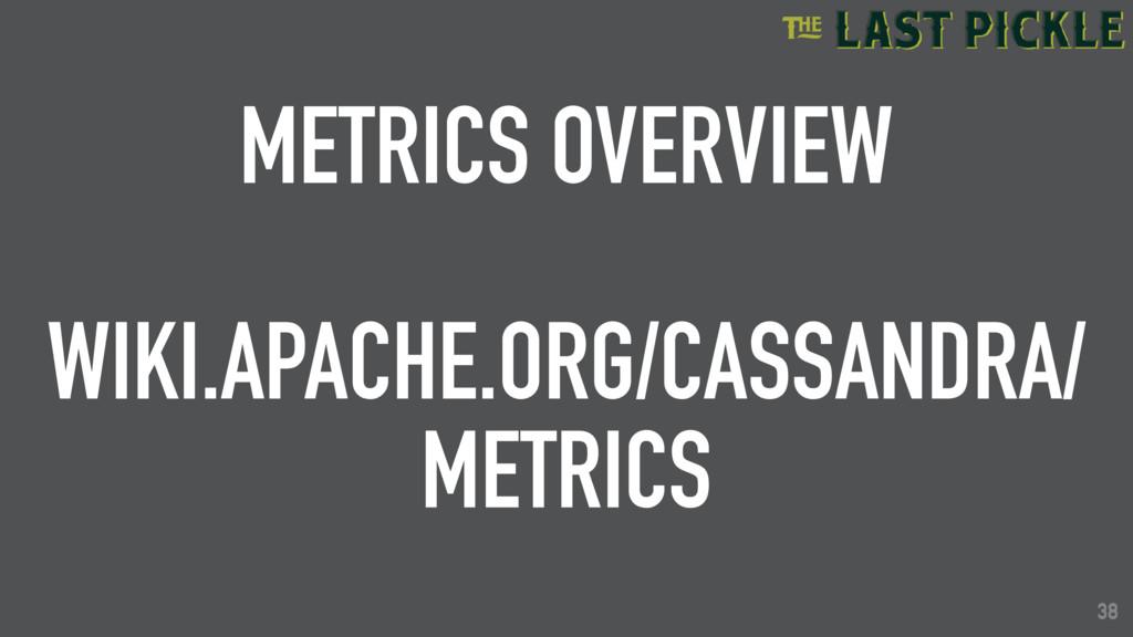 38 METRICS OVERVIEW WIKI.APACHE.ORG/CASSANDRA/ ...