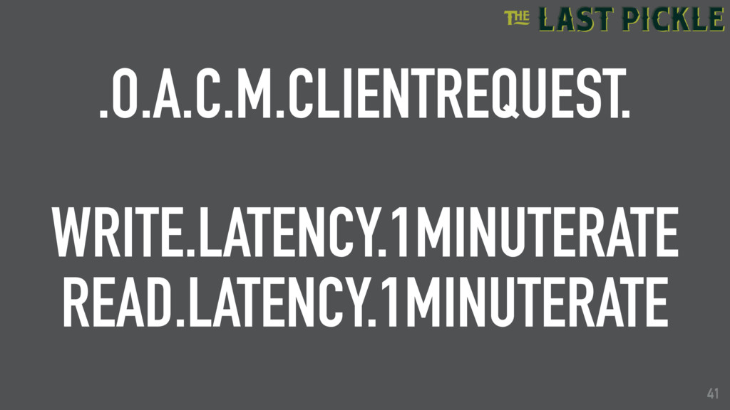 41 .O.A.C.M.CLIENTREQUEST. WRITE.LATENCY.1MINUT...