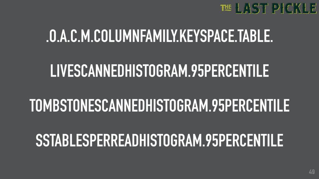 49 .O.A.C.M.COLUMNFAMILY.KEYSPACE.TABLE. LIVESC...