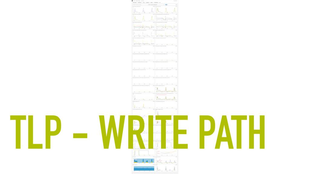 TLP - WRITE PATH