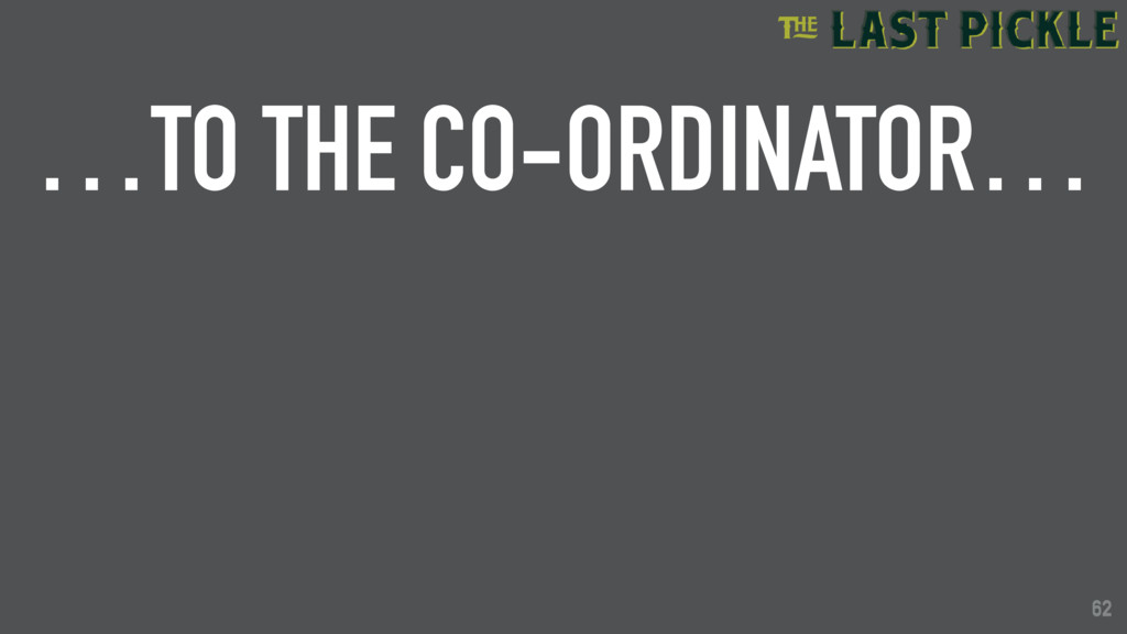 62 …TO THE CO-ORDINATOR… 62