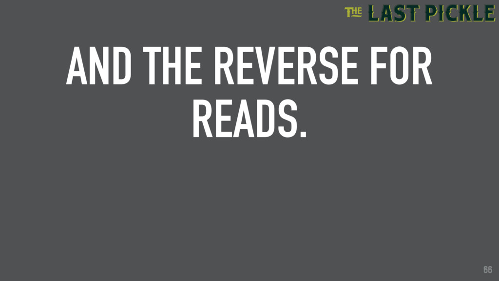 66 AND THE REVERSE FOR READS. 66