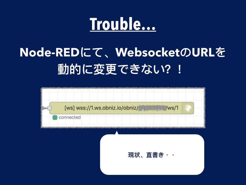 Trouble… Node-REDにて、WebsocketのURLを 動的に変更更できない?!...