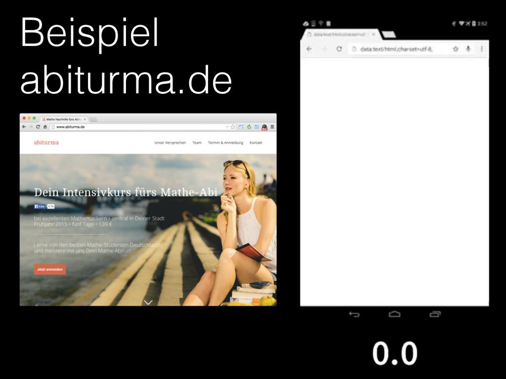 Beispiel abiturma.de
