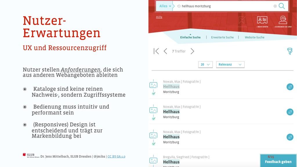 Nutzer- Erwartungen UX und Ressourcenzugriff Nu...