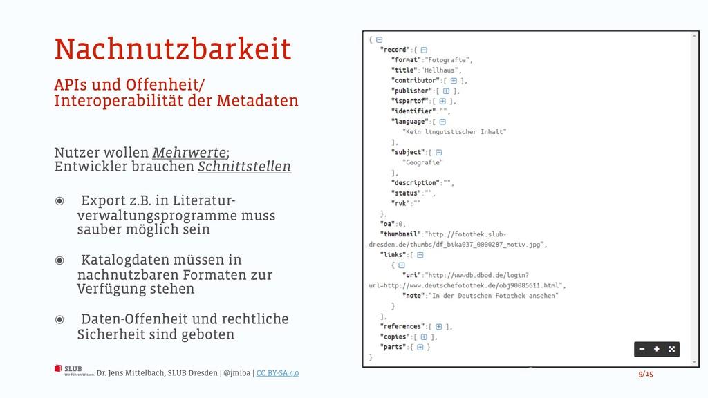 Nachnutzbarkeit APIs und Offenheit/ Interoperab...
