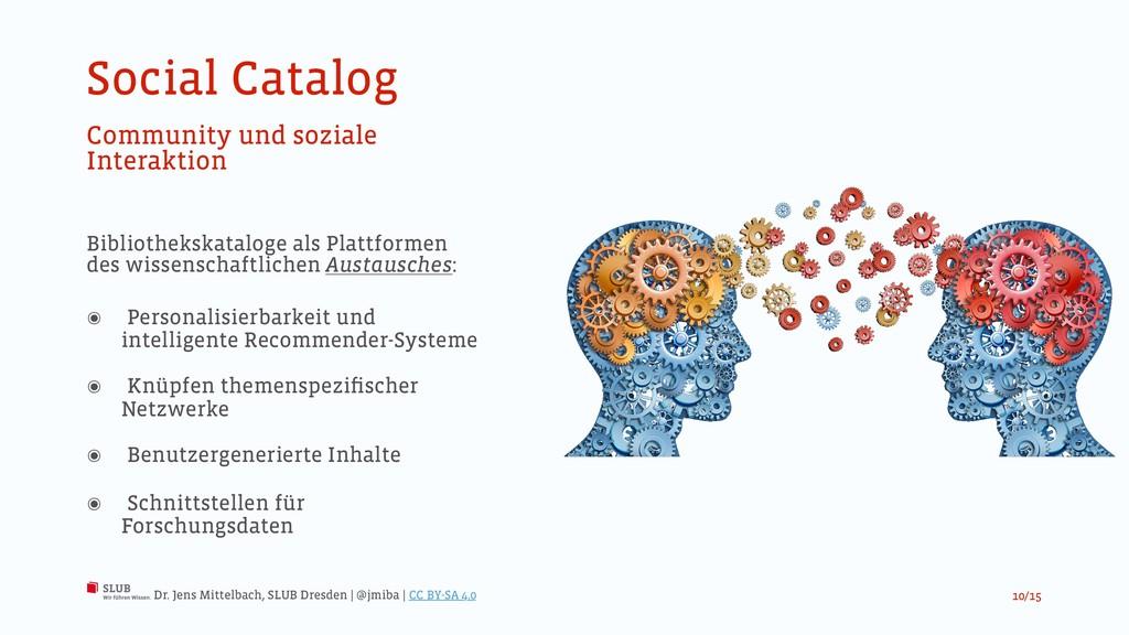 Social Catalog Community und soziale Interaktio...