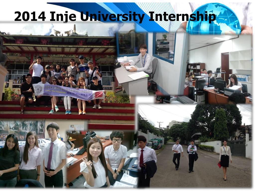 2014 Inje University Internship
