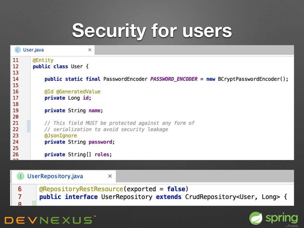 Security for users