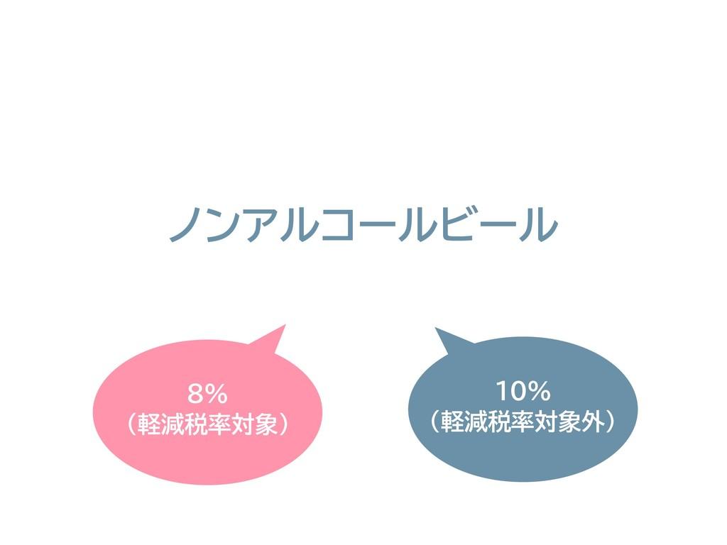8% (軽減税率対象) ノンアルコールビール 10% (軽減税率対象外)