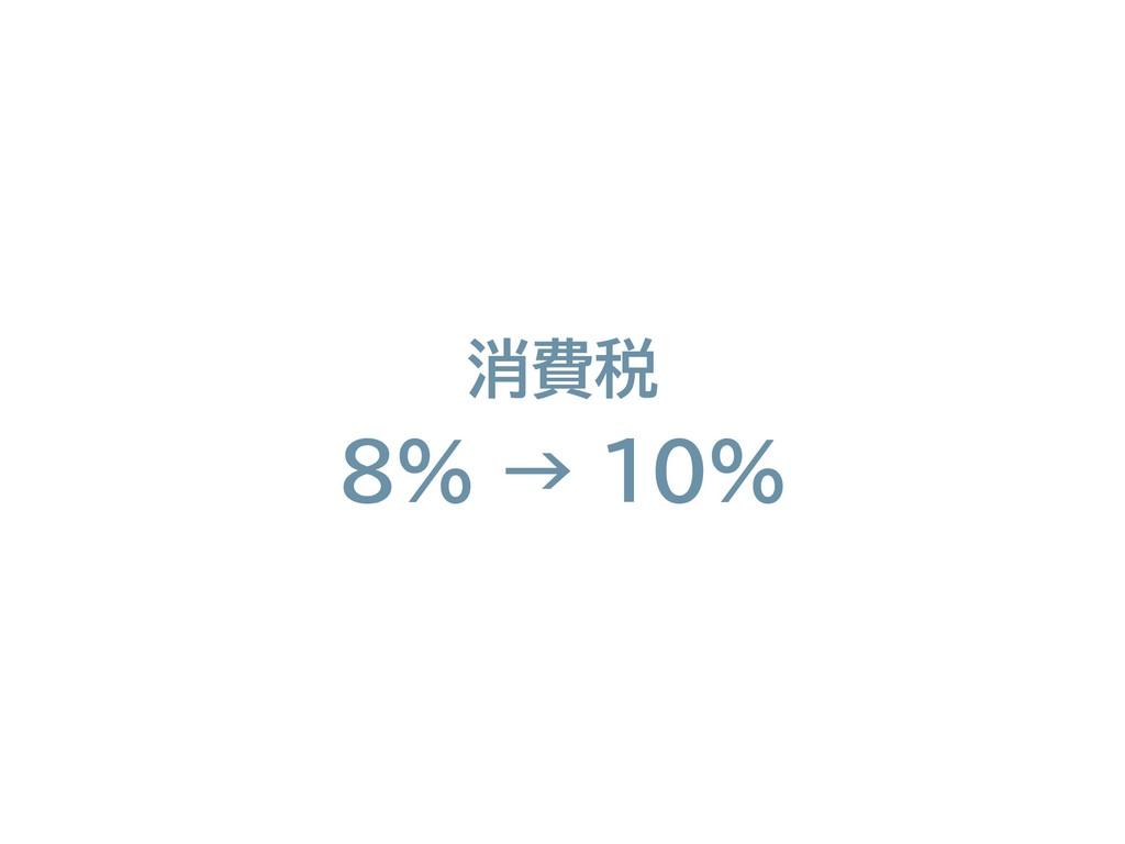 消費税 8% → 10%