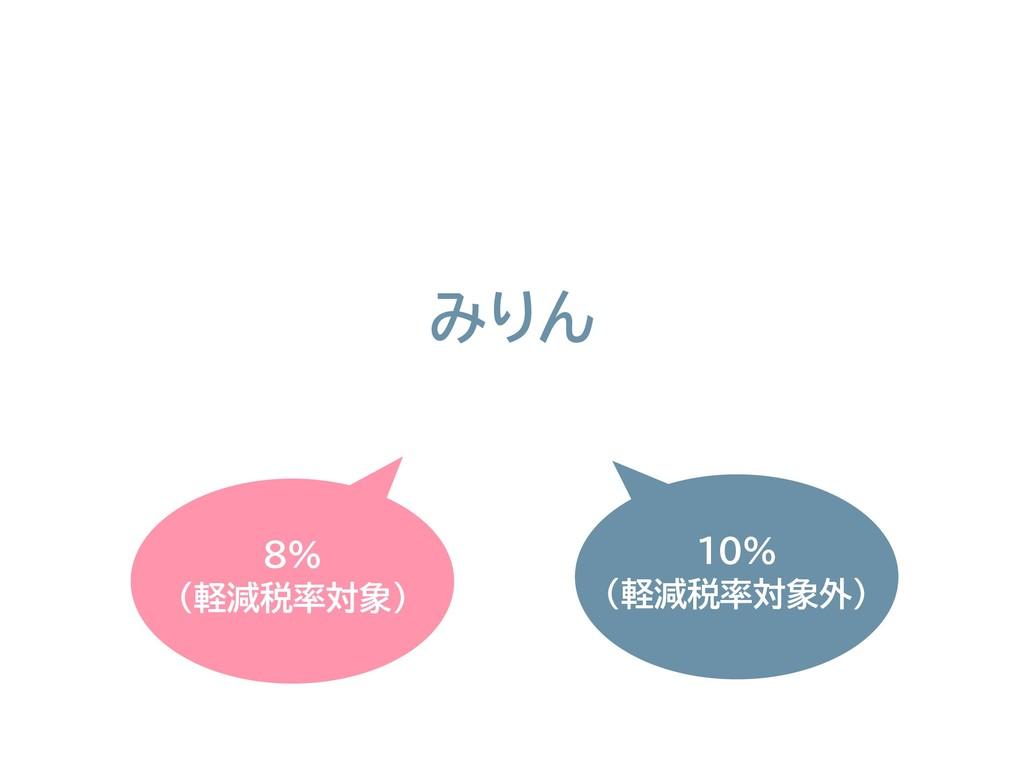 8% (軽減税率対象) みりん 10% (軽減税率対象外)