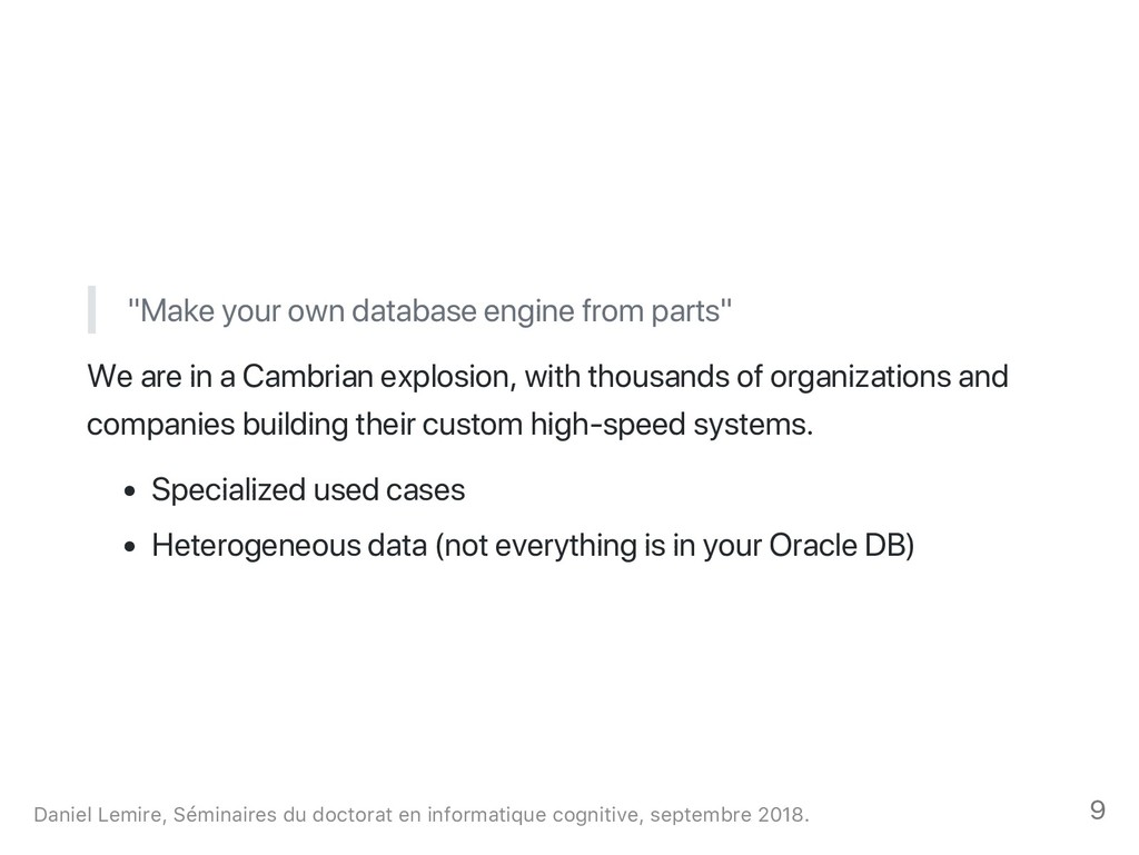 """""""Make your own database engine from parts"""" We a..."""