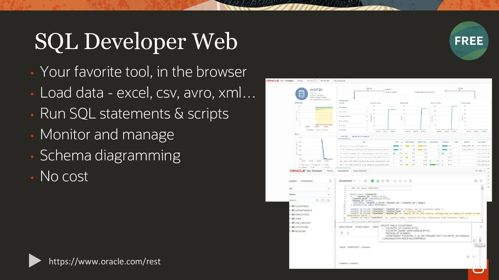 SQL Developer Web • Your favorite tool, in the ...