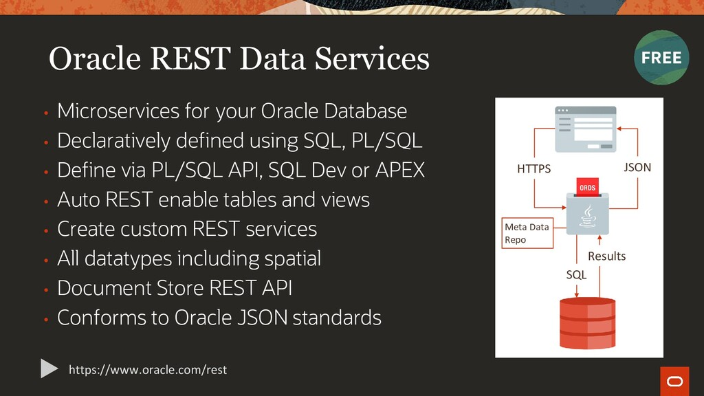 Oracle REST Data Services • Microservices for y...