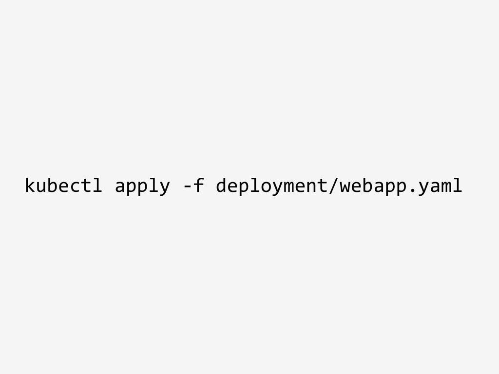 kubectl apply -f deployment/webapp.yaml