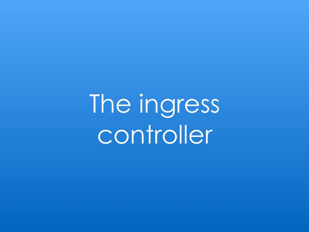 The ingress controller