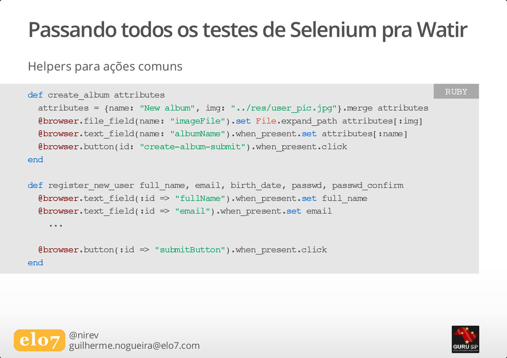 Passando todos os testes de Selenium pra Watir ...