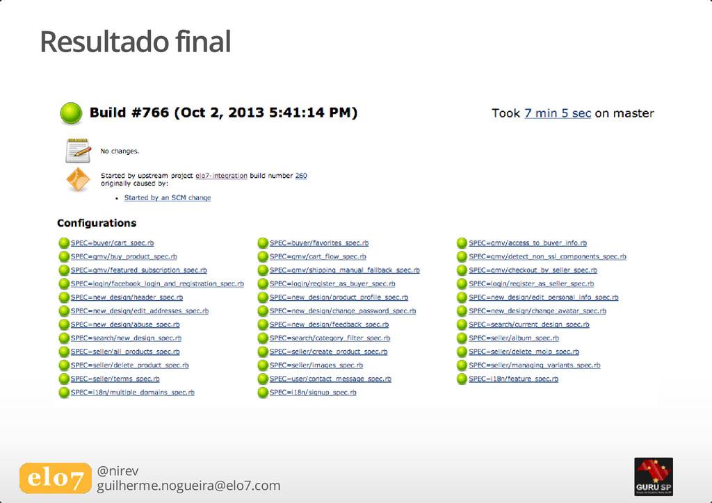 Resultado final @nirev guilherme.nogueira@elo7....