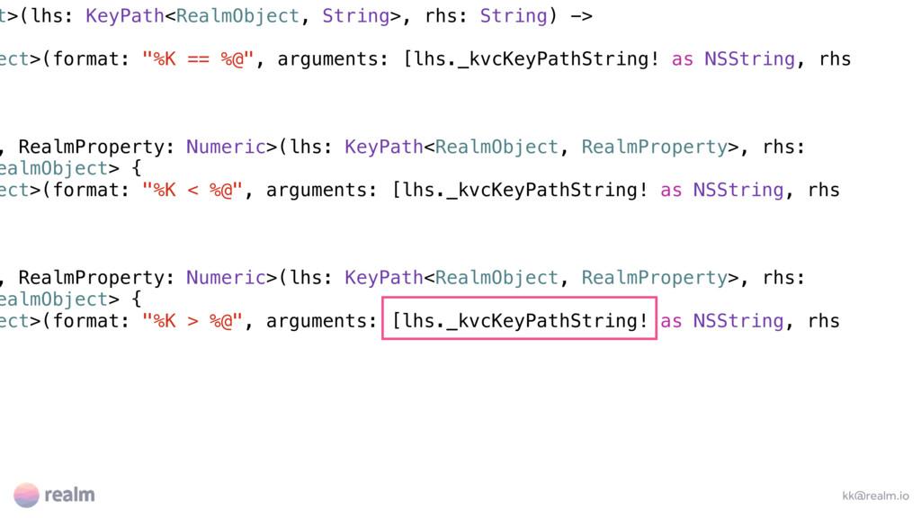 t>(lhs: KeyPath<RealmObject, String>, rhs: Stri...