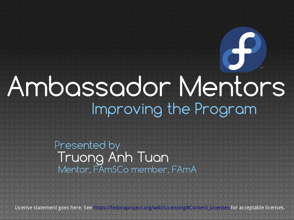 Improving the Program Truong Anh Tuan Presented...