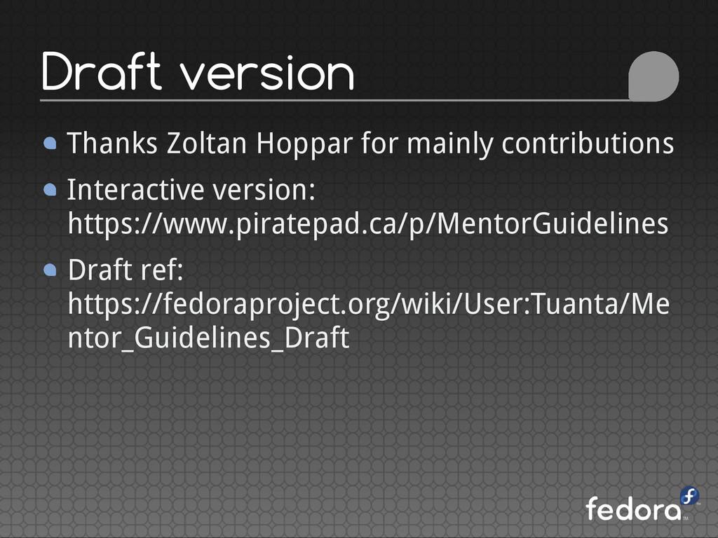 Thanks Zoltan Hoppar for mainly contributions I...