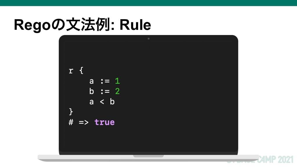 Regoͷจ๏ྫ: Rule