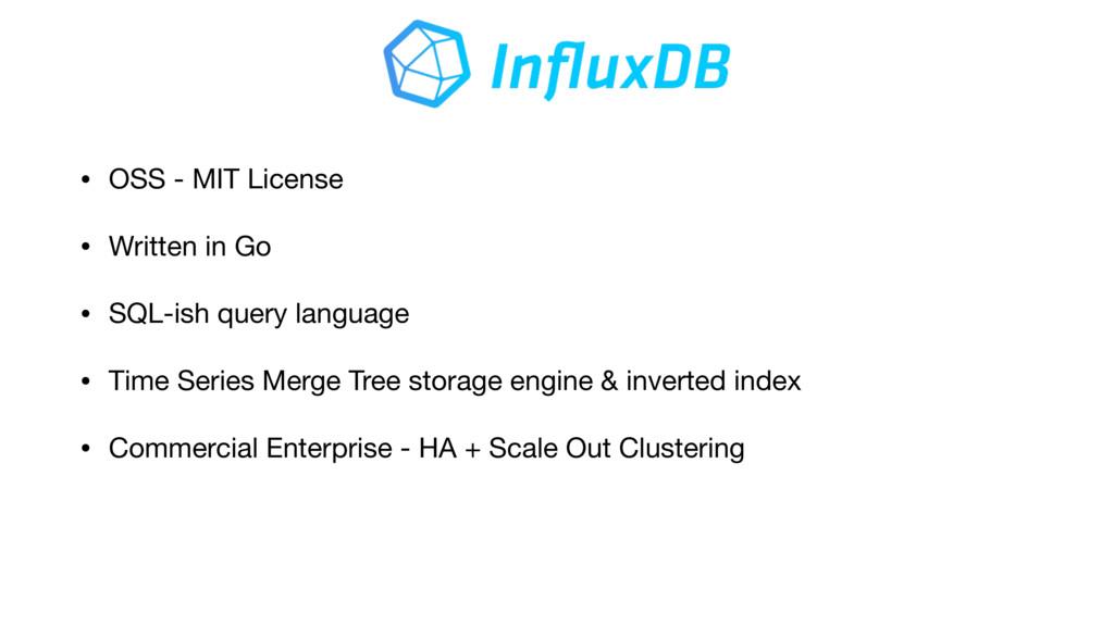 • OSS - MIT License  • Written in Go  • SQL-ish...
