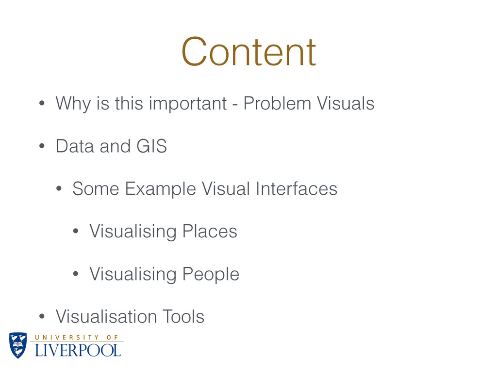 Content • Why is this important - Problem Visua...