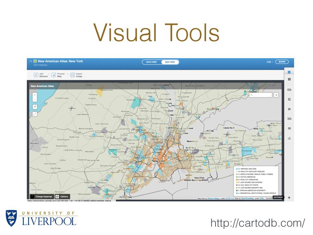 Visual Tools http://cartodb.com/