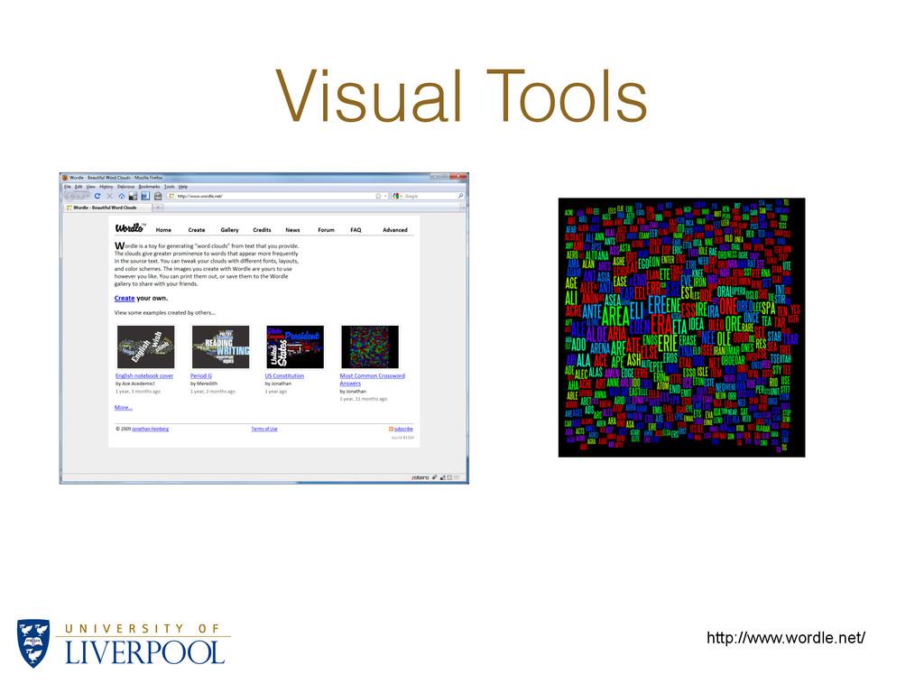 Visual Tools http://www.wordle.net/