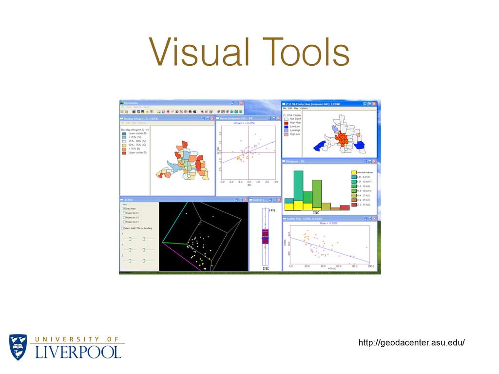 Visual Tools http://geodacenter.asu.edu/