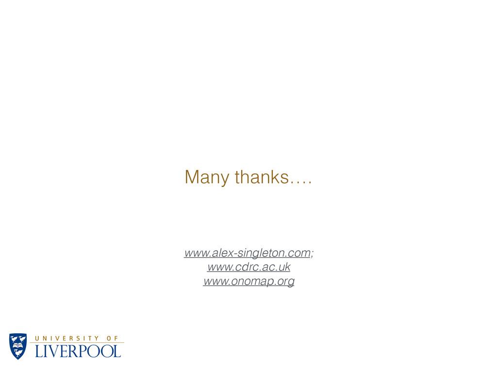 www.alex-singleton.com; www.cdrc.ac.uk www.onom...