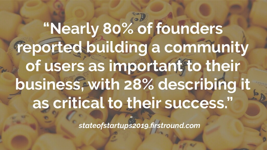 """Nearly 80% of founders reported building a com..."