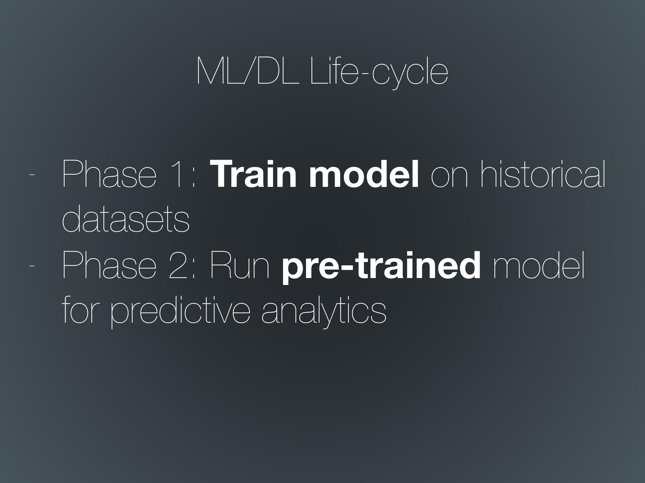 - Phase 1: Train model on historical datasets -...