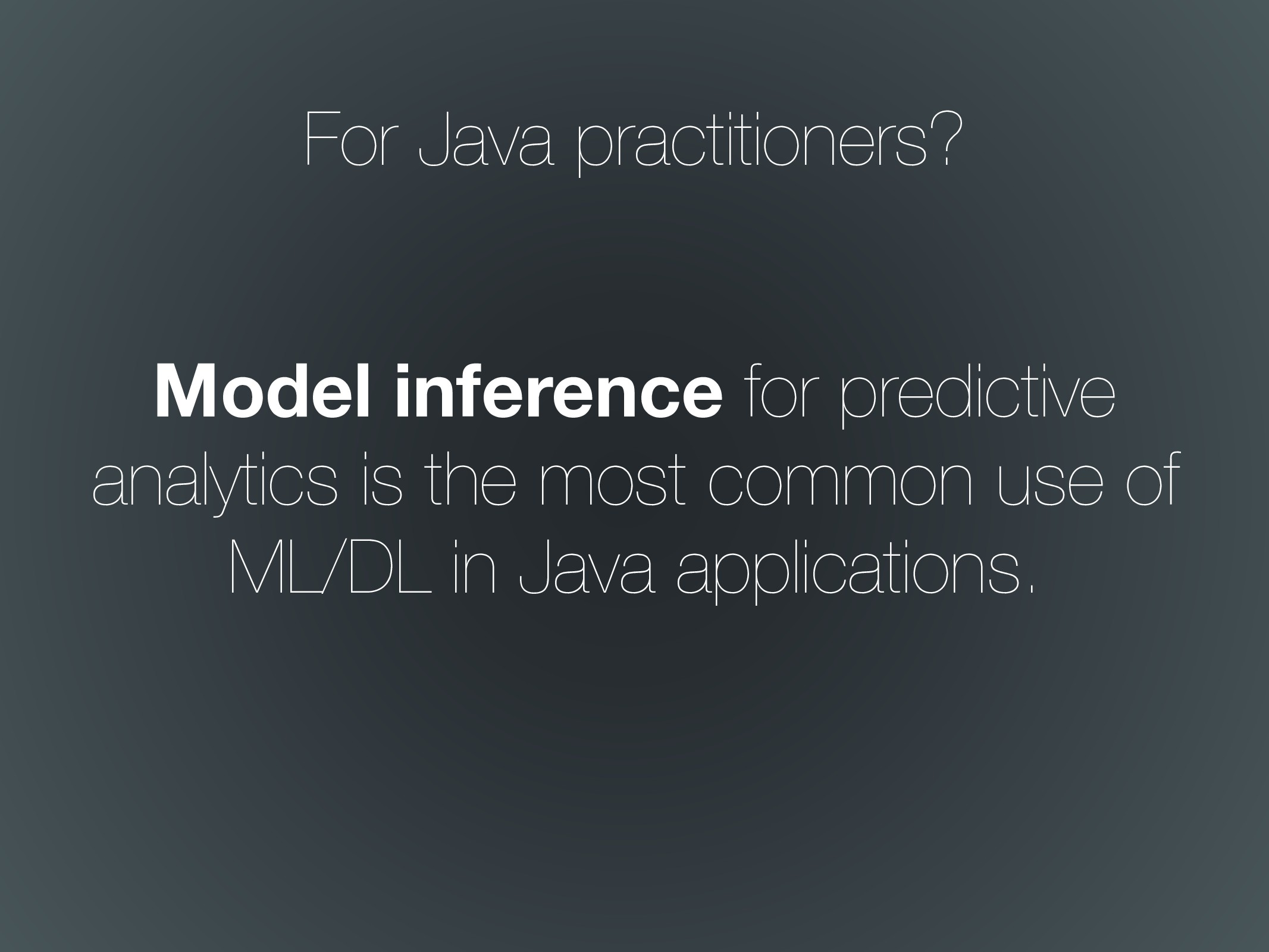 Model inference for predictive analytics is the...