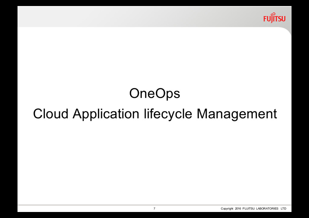 OneOps Cloud Application lifecycle Management 7...