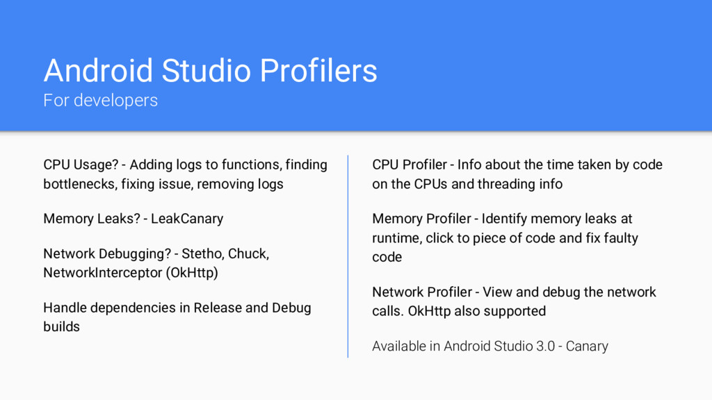 Android Studio Profilers For developers CPU Usa...