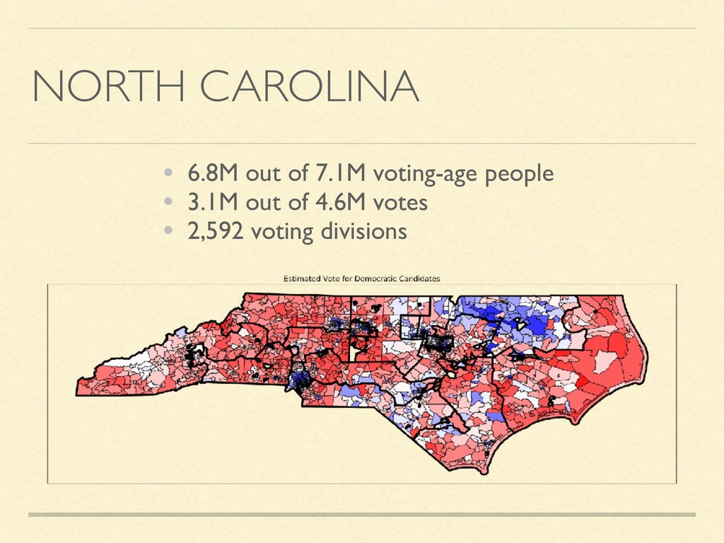 NORTH CAROLINA • 6.8M out of 7.1M voting-age pe...