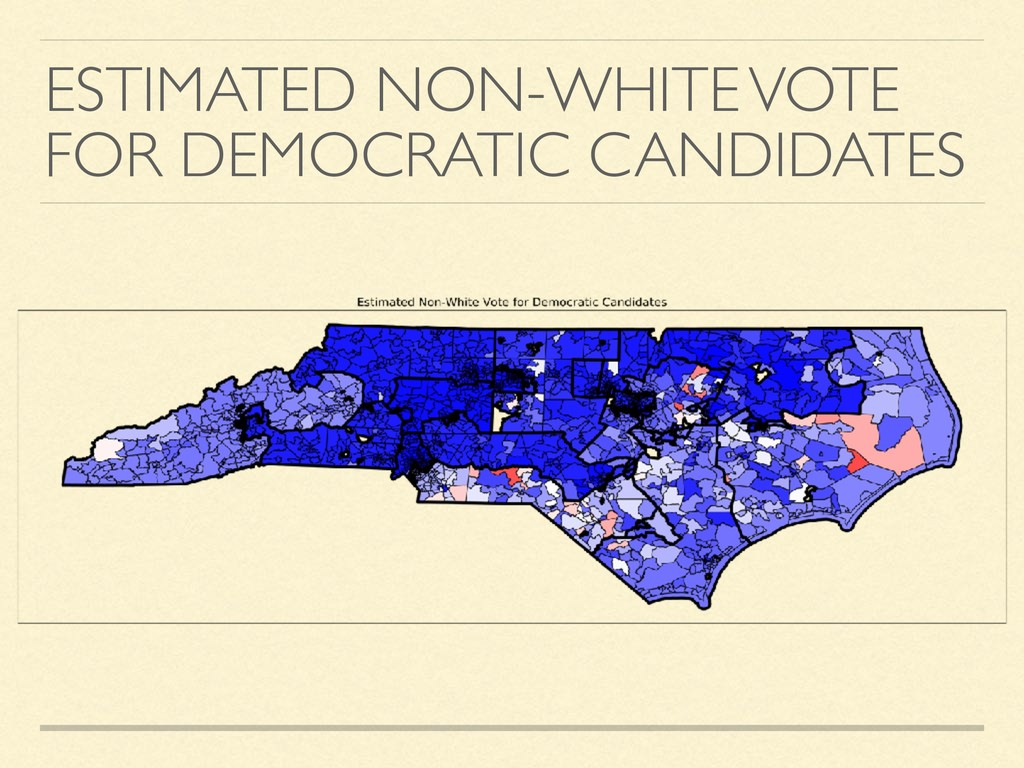 ESTIMATED NON-WHITE VOTE FOR DEMOCRATIC CANDIDA...