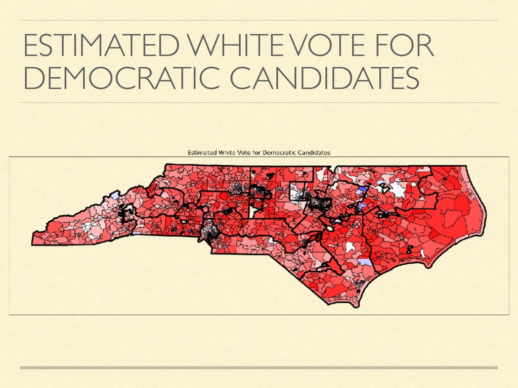 ESTIMATED WHITE VOTE FOR DEMOCRATIC CANDIDATES